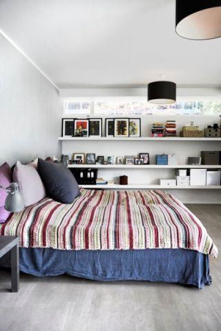 卧室北欧风格效果图大全2017图片_土拨鼠完美风雅卧室北欧风格装修设计效果图欣赏