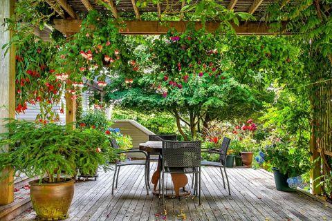阳台美式风格效果图大全2017图片_土拨鼠清新自然阳台美式风格装修设计效果图欣赏