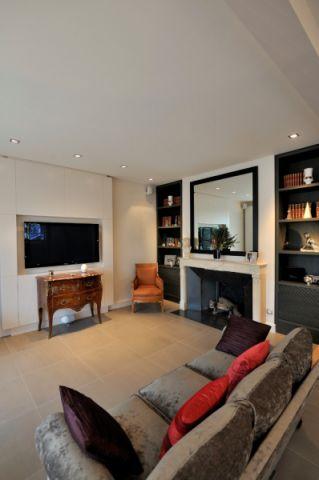 客厅地砖现代风格装潢效果图