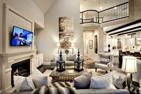 客厅现代风格效果图大全2017图片_土拨鼠美感自然客厅现代风格装修设计效果图欣赏