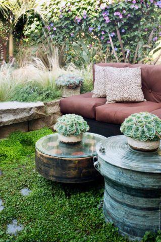 花园茶几混搭风格装潢设计图片