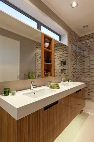 卫生间洗漱台现代风格装潢图片