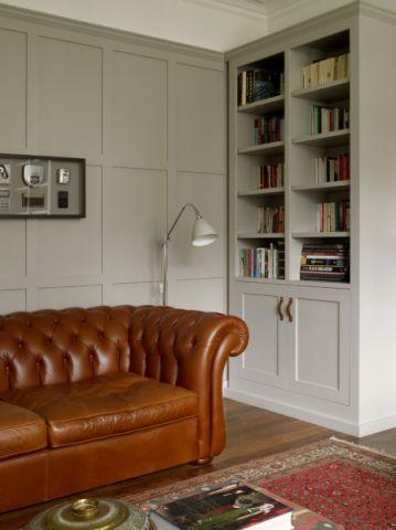 书房书架美式风格装修设计图片