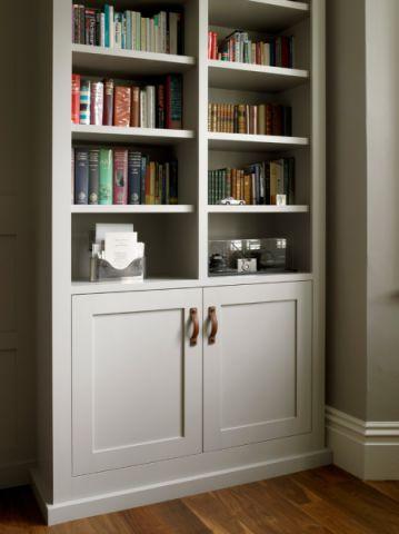书房书架美式风格装饰设计图片