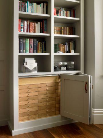 书房书架美式风格装潢设计图片