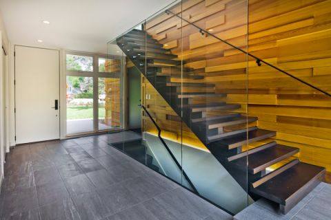 楼梯现代风格效果图大全2017图片_土拨鼠干净淡雅楼梯现代风格装修设计效果图欣赏