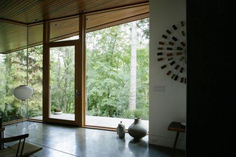 客厅推拉门现代风格效果图