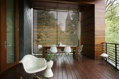 阳台地板砖现代风格装修图片