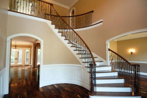 楼梯美式风格效果图大全2017图片_土拨鼠奢华优雅楼梯美式风格装修设计效果图欣赏