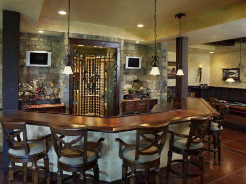 客厅吧台古典风格装潢效果图
