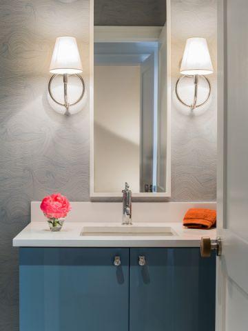 卫生间洗漱台北欧风格装潢图片