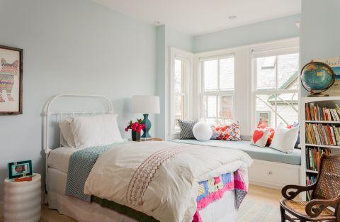 儿童房飘窗北欧风格装饰设计图片