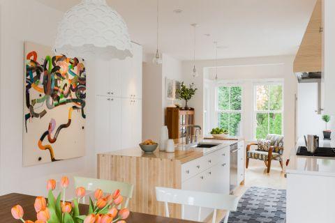 厨房厨房岛台北欧风格装修效果图
