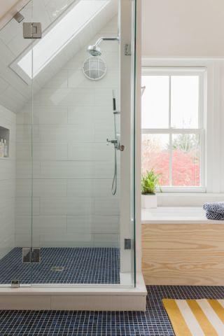 浴室地砖北欧风格装潢图片