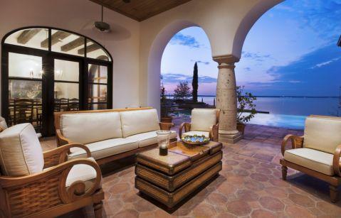 阳台地中海风格效果图大全2017图片_土拨鼠个性质感阳台地中海风格装修设计效果图欣赏