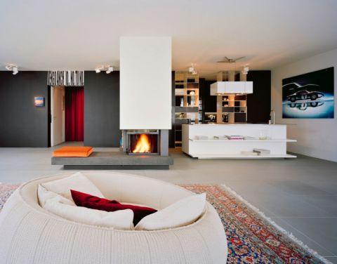 客厅现代风格效果图大全2017图片_土拨鼠个性淡雅客厅现代风格装修设计效果图欣赏