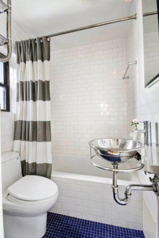 浴室现代风格效果图大全2017图片_土拨鼠唯美淡雅浴室现代风格装修设计效果图欣赏