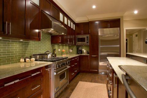 厨房现代风格效果图大全2017图片_土拨鼠豪华摩登厨房现代风格装修设计效果图欣赏