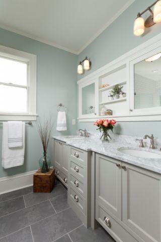 浴室美式风格效果图大全2017图片_土拨鼠温暖淡雅浴室美式风格装修设计效果图欣赏