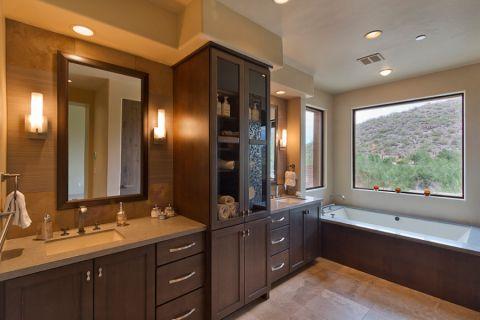 浴室美式风格效果图大全2017图片_土拨鼠干净质朴浴室美式风格装修设计效果图欣赏