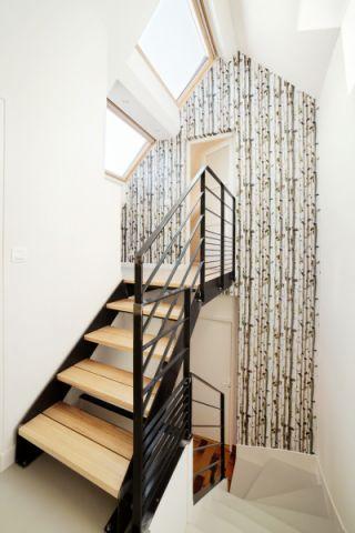 楼梯北欧风格效果图大全2017图片_土拨鼠奢华雅致楼梯北欧风格装修设计效果图欣赏