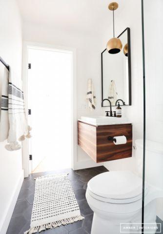 浴室北欧风格效果图大全2017图片_土拨鼠美感迷人浴室北欧风格装修设计效果图欣赏