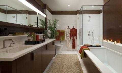浴室现代风格效果图大全2017图片_土拨鼠文艺个性浴室现代风格装修设计效果图欣赏