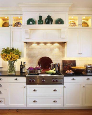 厨房美式风格效果图大全2017图片_土拨鼠典雅写意厨房美式风格装修设计效果图欣赏
