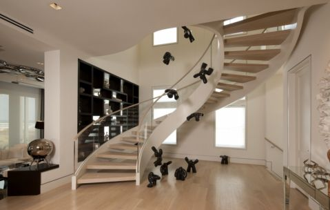 楼梯现代风格效果图大全2017图片_土拨鼠豪华奢华楼梯现代风格装修设计效果图欣赏