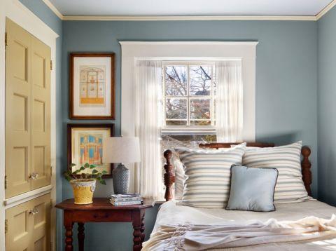 卧室美式风格效果图大全2017图片_土拨鼠简洁自然卧室美式风格装修设计效果图欣赏