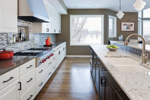 厨房美式风格效果图大全2017图片_土拨鼠典雅富丽厨房美式风格装修设计效果图欣赏
