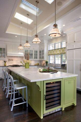 厨房美式风格效果图大全2017图片_土拨鼠浪漫富丽厨房美式风格装修设计效果图欣赏
