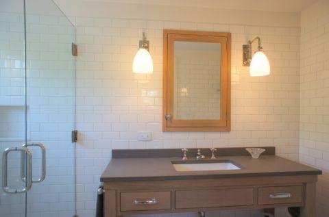 浴室混搭风格效果图大全2017图片_土拨鼠清新格调浴室混搭风格装修设计效果图欣赏