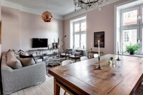 客厅北欧风格效果图大全2017图片_土拨鼠温馨个性客厅北欧风格装修设计效果图欣赏