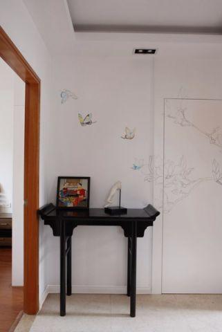 玄关咖啡色门厅中式风格装修设计图片