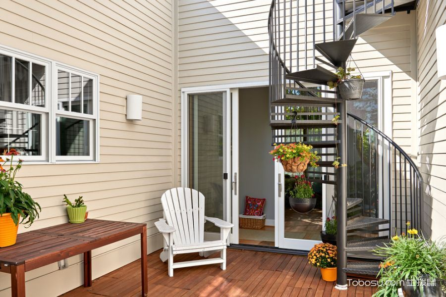 阳台白色背景墙混搭风格装饰效果图