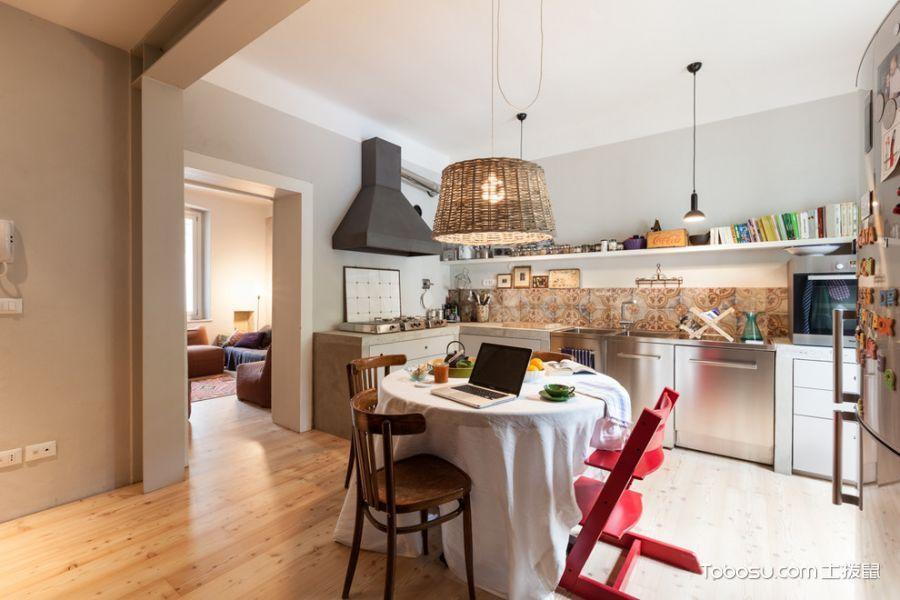 厨房混搭风格效果图大全2017图片_土拨鼠简约休闲厨房混搭风格装修设计效果图欣赏
