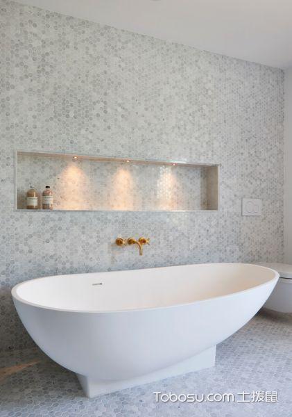 浴室220㎡现代风格四居室装修效果图大全2017图片