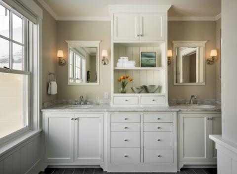 浴室美式风格效果图大全2017图片_土拨鼠精致自然浴室美式风格装修设计效果图欣赏