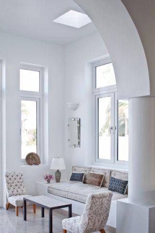 客厅地砖地中海实景图