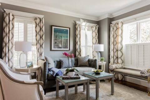 客厅美式风格效果图大全2017图片_土拨鼠简约纯净客厅美式风格装修设计效果图欣赏