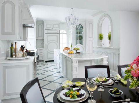 厨房美式风格效果图大全2017图片_土拨鼠温暖时尚厨房美式风格装修设计效果图欣赏