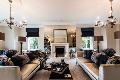 客厅美式风格效果图大全2017图片_土拨鼠大气风雅客厅美式风格装修设计效果图欣赏