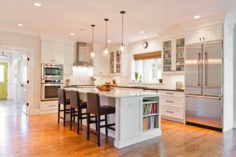 厨房美式风格效果图大全2017图片_土拨鼠温暖雅致厨房美式风格装修设计效果图欣赏
