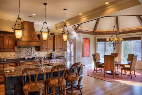 厨房美式风格效果图大全2017图片_土拨鼠极致淡雅厨房美式风格装修设计效果图欣赏