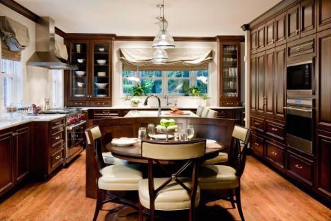 厨房美式风格效果图大全2017图片_土拨鼠大气清新厨房美式风格装修设计效果图欣赏