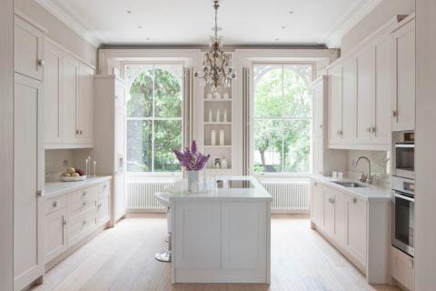 厨房美式风格效果图大全2017图片_土拨鼠大气格调厨房美式风格装修设计效果图欣赏