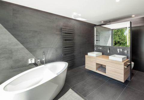 浴室现代风格效果图大全2017图片_土拨鼠极致雅致浴室现代风格装修设计效果图欣赏