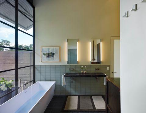 浴室浴缸地中海u乐娱乐平台设计