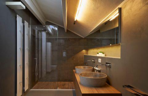 浴室现代风格效果图大全2017图片_土拨鼠大气迷人浴室现代风格装修设计效果图欣赏